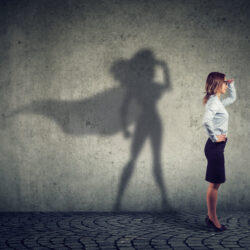 A normal woman whose shadow looks like a Mother's Day superhero, a woman trying to become a mother | Arizona Reproductive Medicine Specialists | AZ