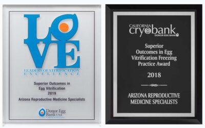 Arizona Reproductive Medicine Specialists: Superior Egg Freezing Award 2018 and 2019