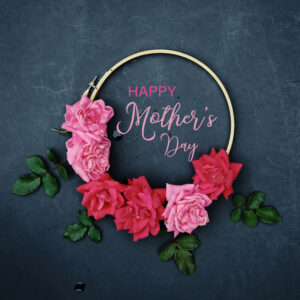 Happy Mother's Day Flower Wreath