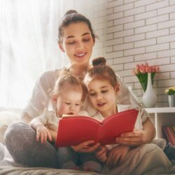 Mom of two reading to her kids | Arizona Reproductive Medical Specialists